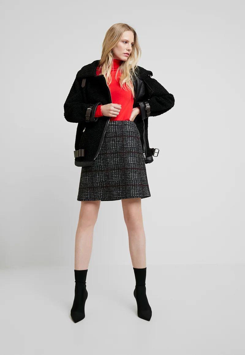WINTER CHECK ME - Mini skirt