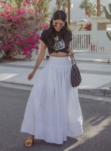 White Maxi Skirt in Different Colours