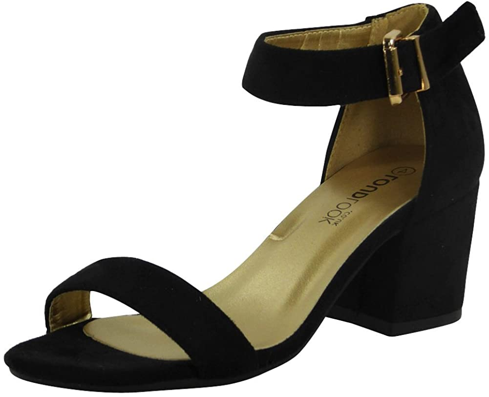 Women Ankle Strap Sandals   Heeled Sandals   Sandals for Women   Chunky Heel Sandals   Summer Sandals Women   Buckle Sandals for Women
