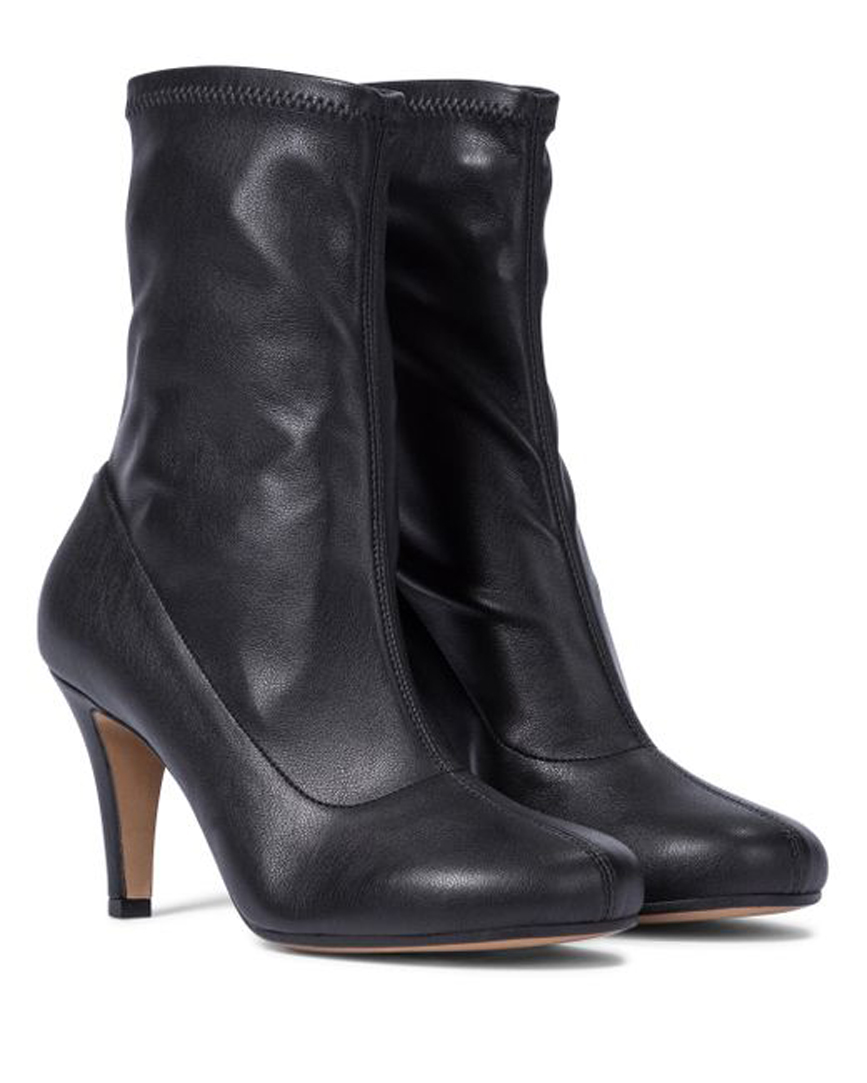 Women's Black Sock-fit Ankle Boots