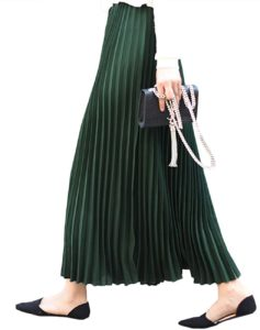 Women's Maxi Skirt Chiffon High Waist Pleated