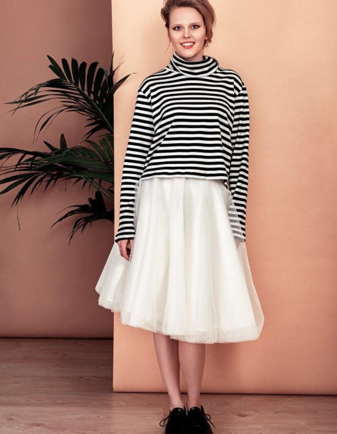 Wonderful tulle skirt in natural white