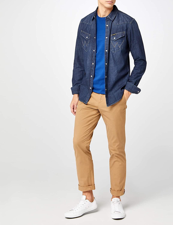 Wrangler Men's Western Denim Shirt' Jeans Hemd
