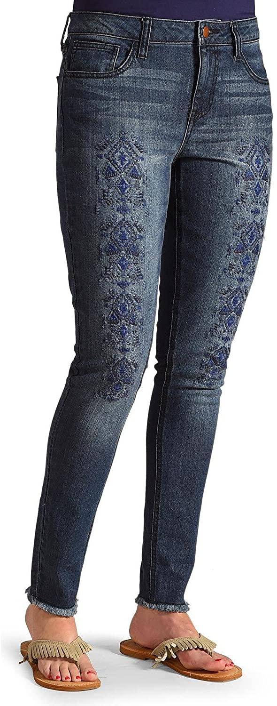 Wrangler Women's Embroidered Tribal Print Skinny Jeans