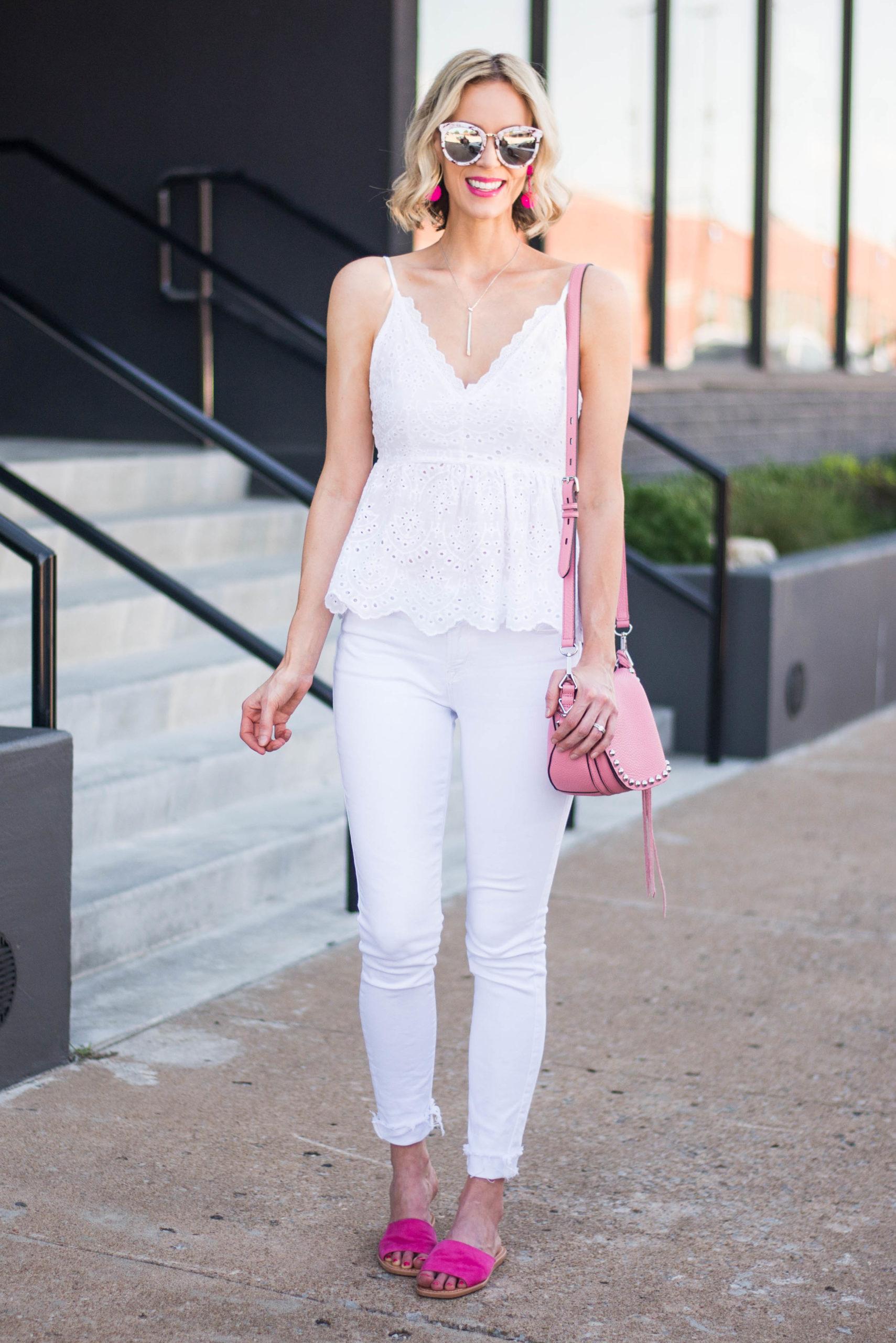 Cami white Tops