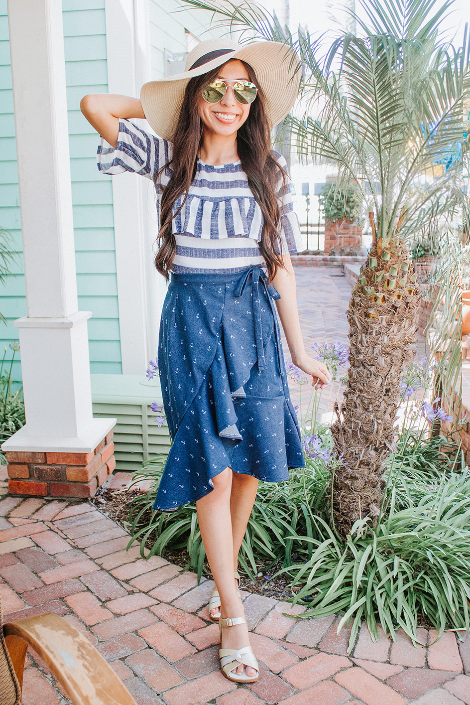 wrap skirt with matching hat