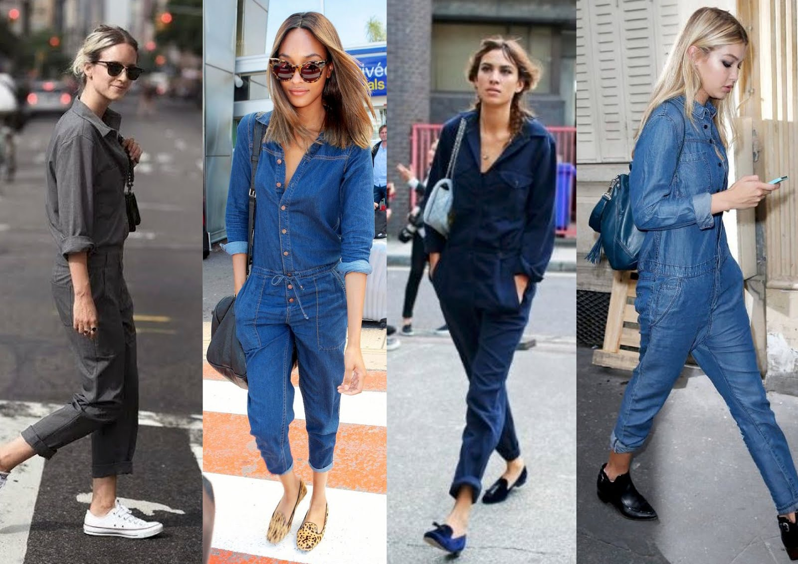 Denim boiler suit trends