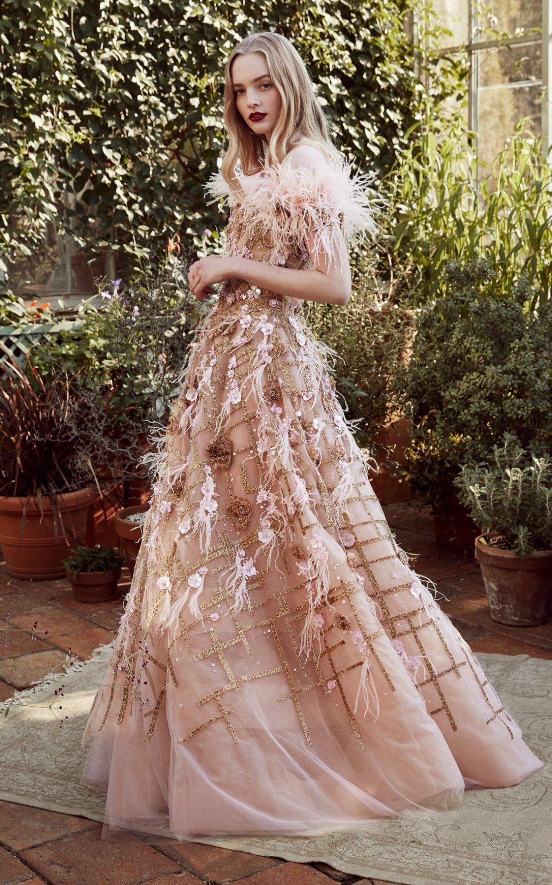 Feather Dress Romantic Look