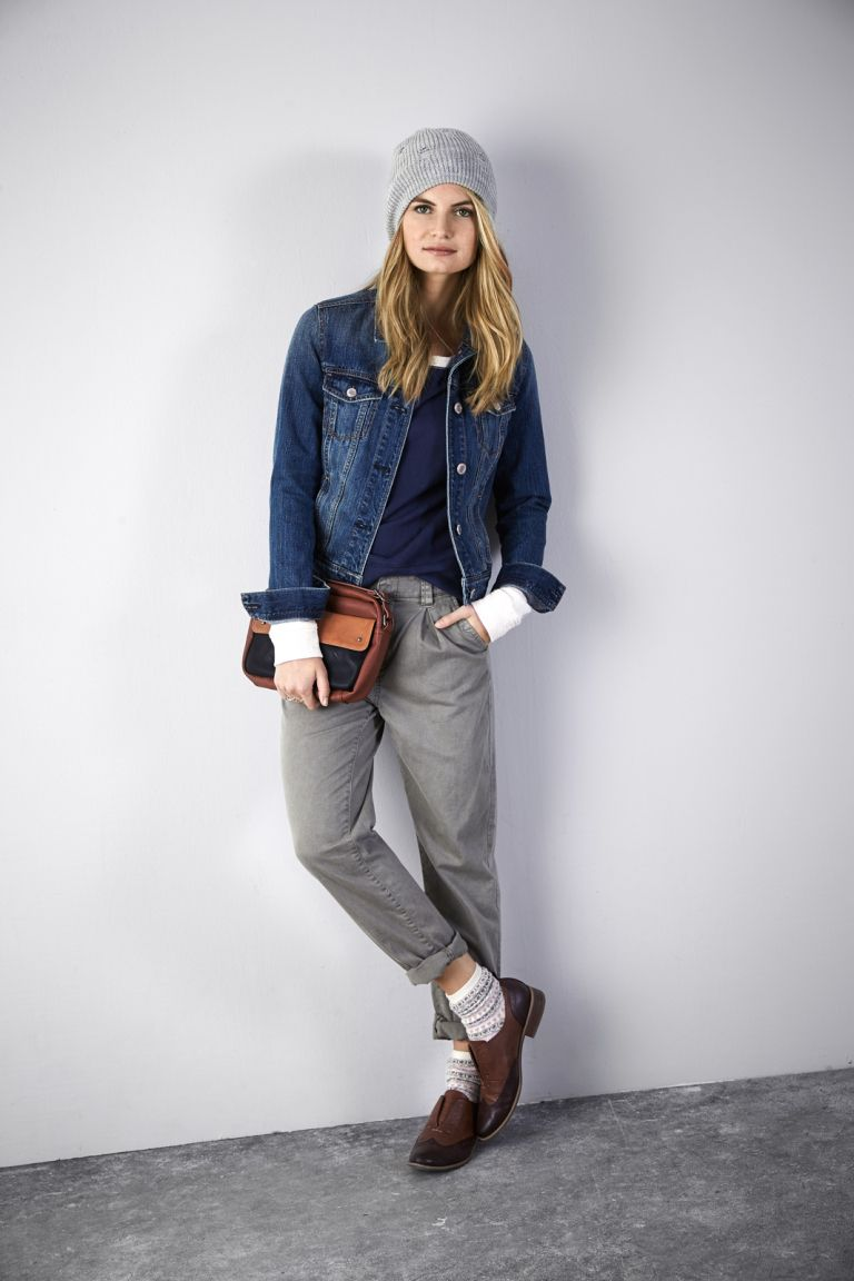 Chunky Loafers for Women with tapered pants