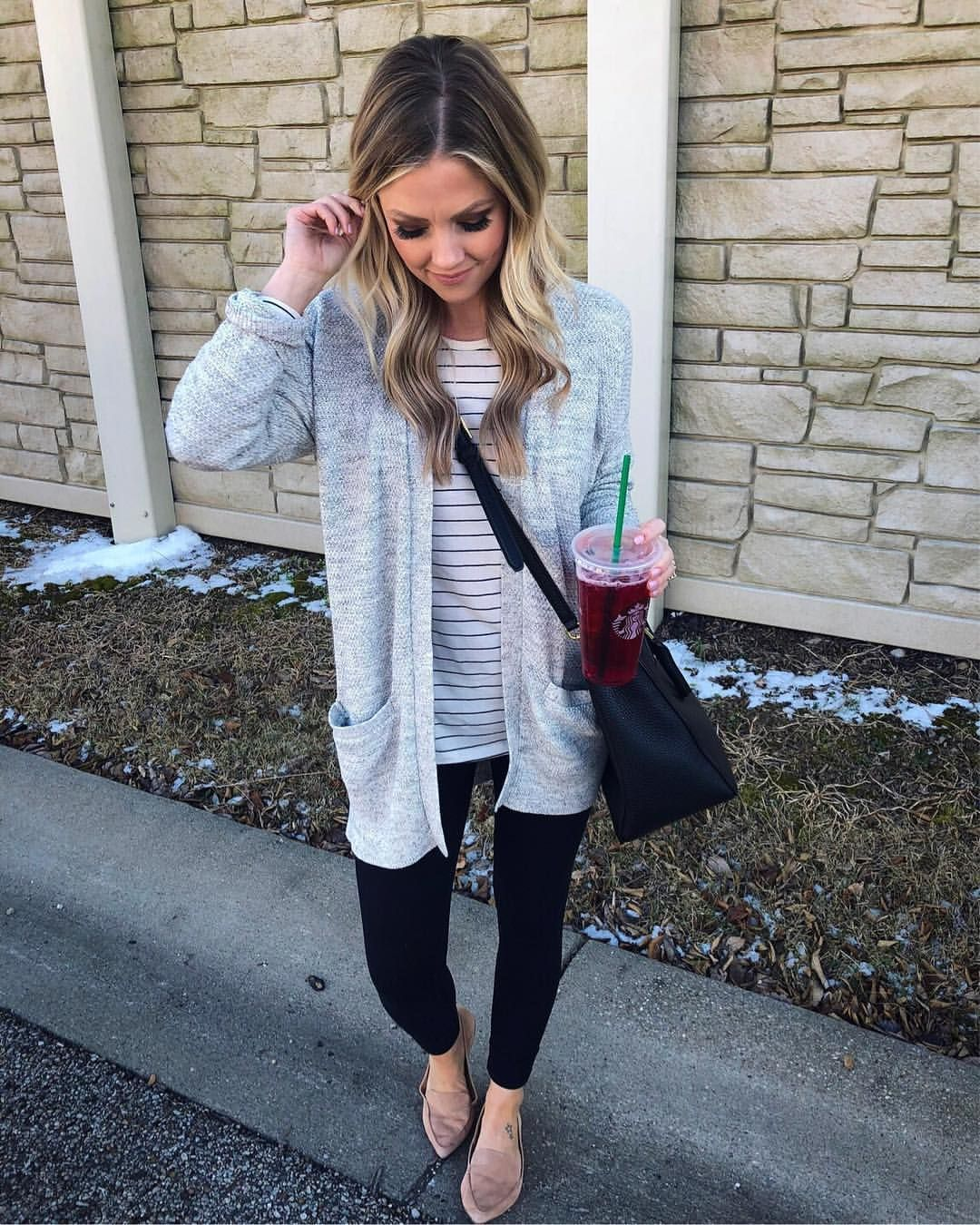 Striped long sleeve shirt with Leggings