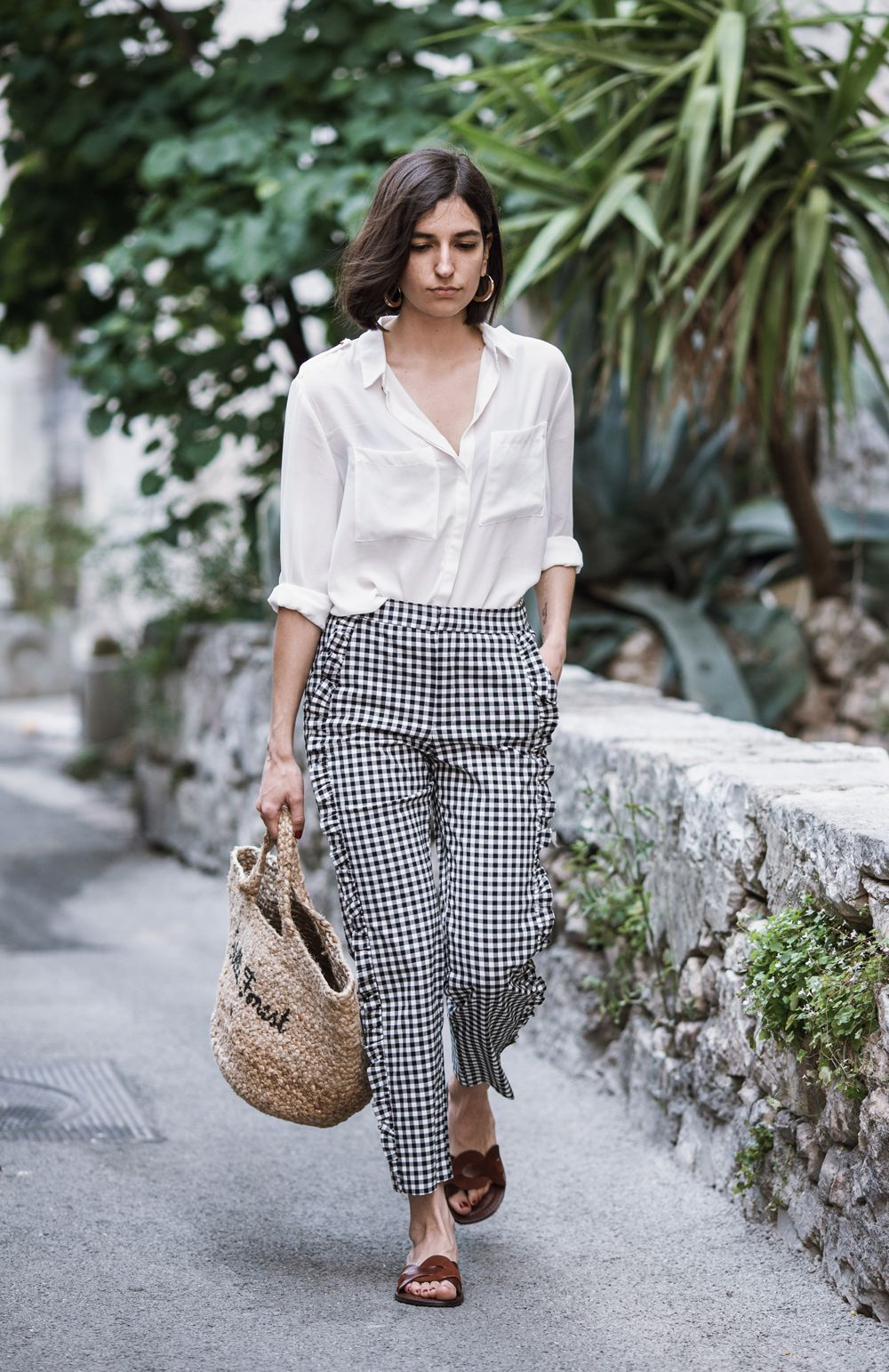Gingham Pants with shirt