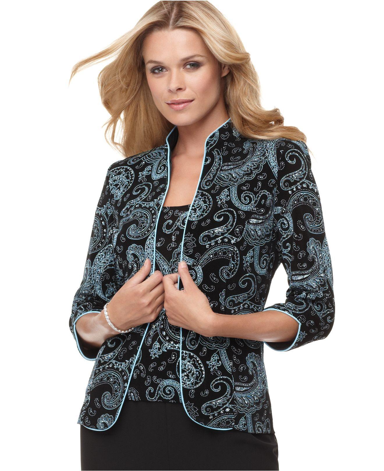 paisley print jacket dress