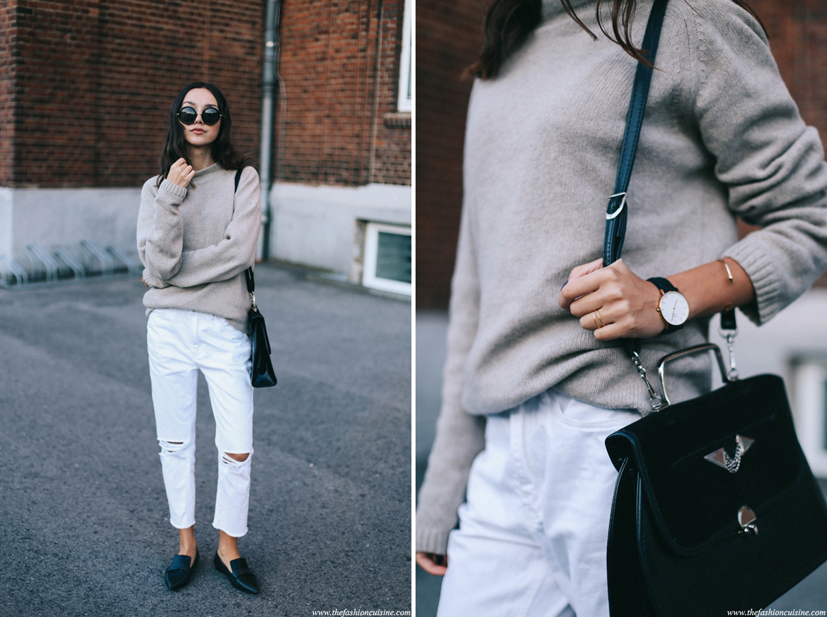 Chunky Loafers for Women with oversize sweater