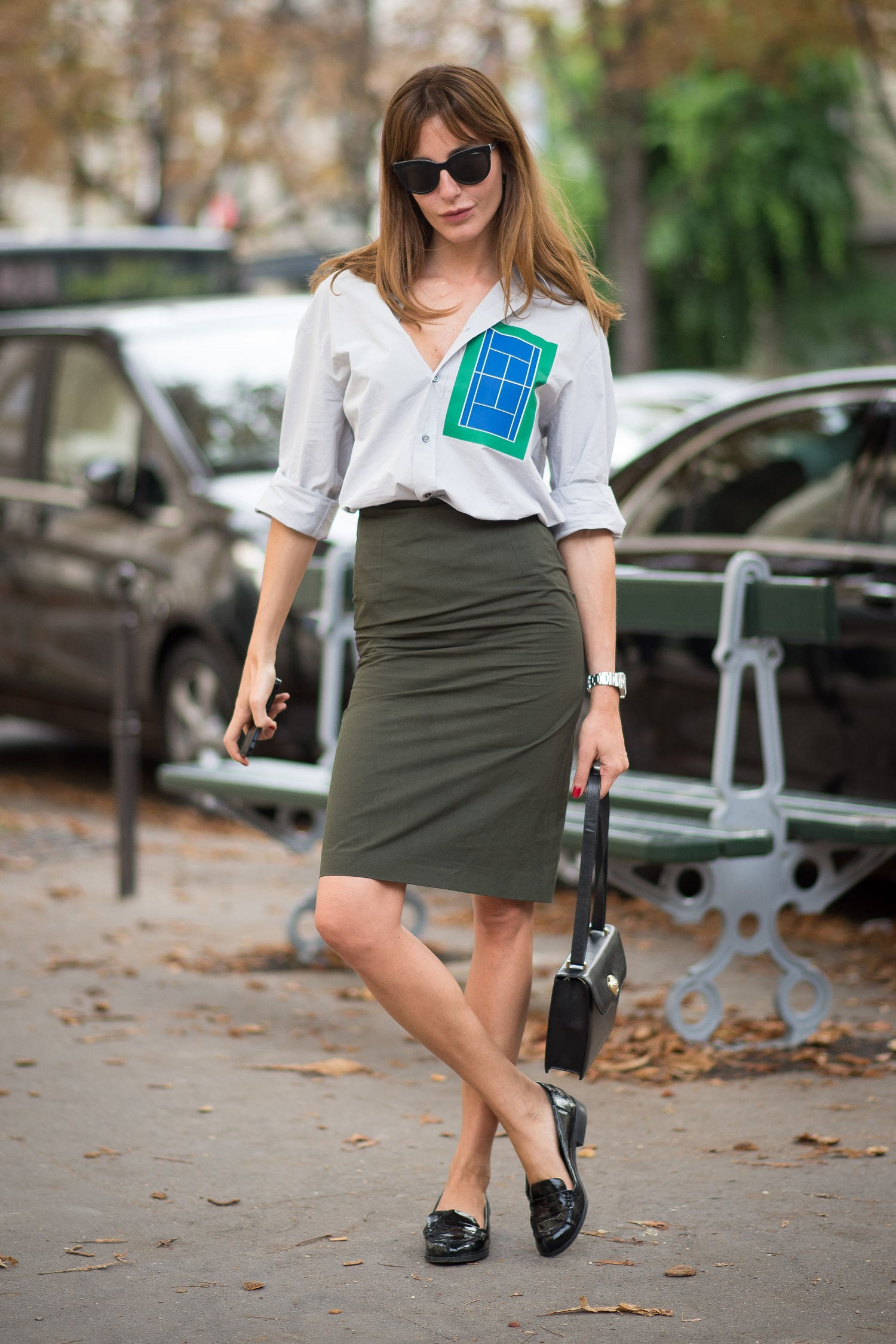 Chunky Loafers for Women with classic pencil skirt