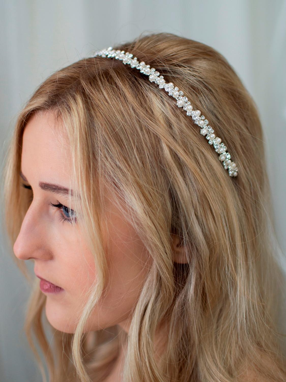 LT656 – narrow pearl & diamante wedding headband