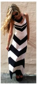 maxi outfits with black accessories image