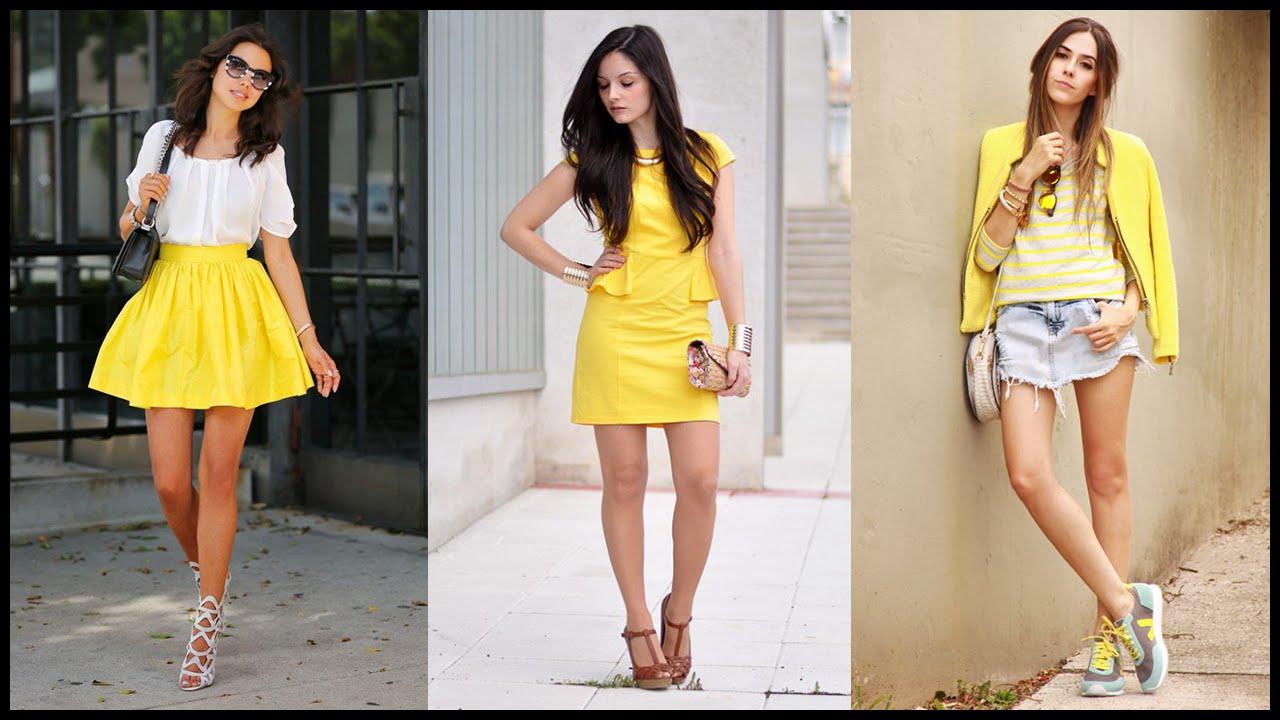 Yellow dress fashion trend
