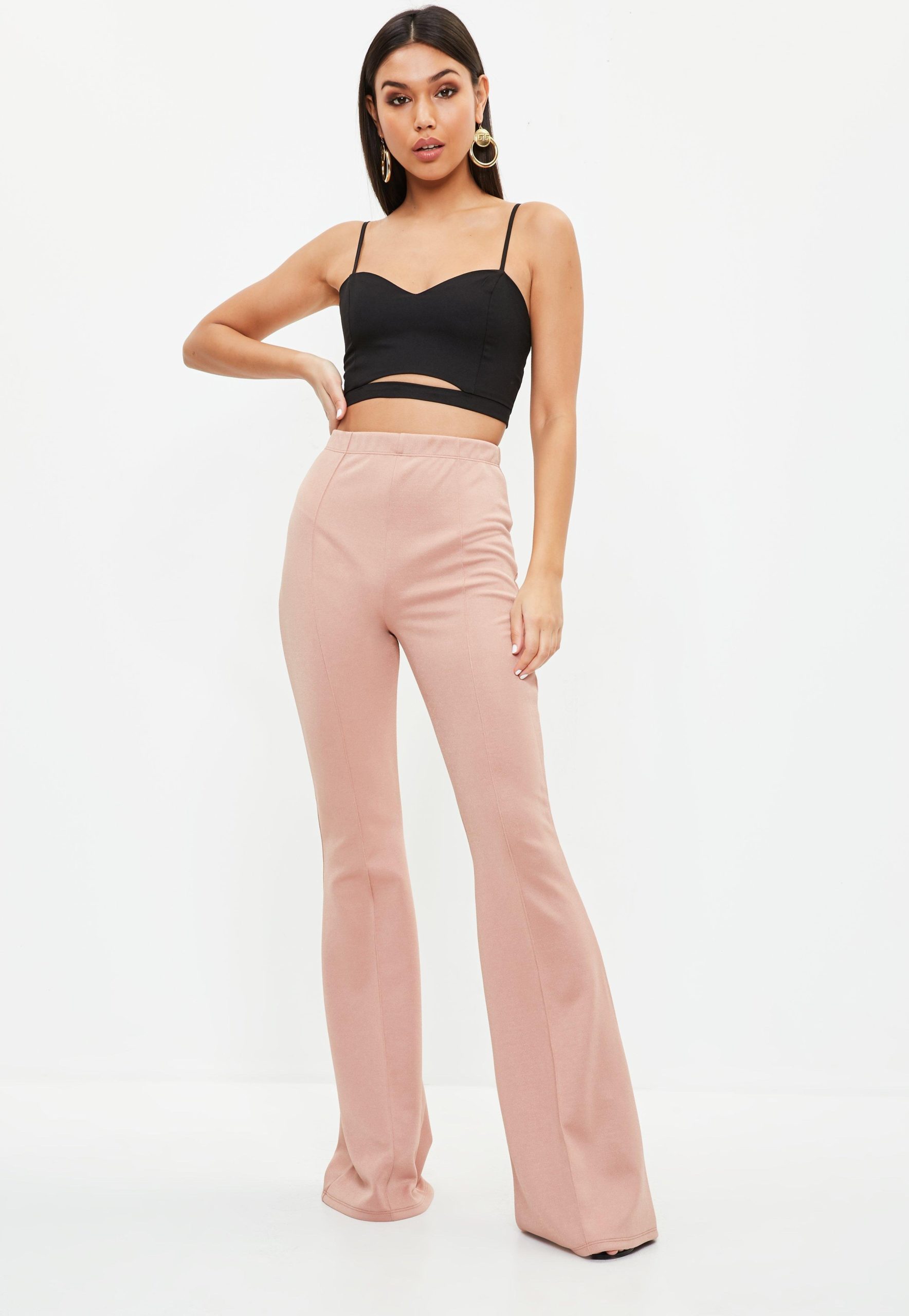 pink Kick Flare Jeans