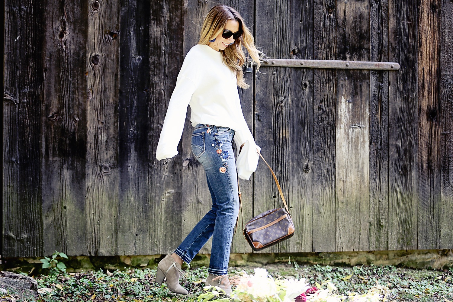 Embroidered Denim Style