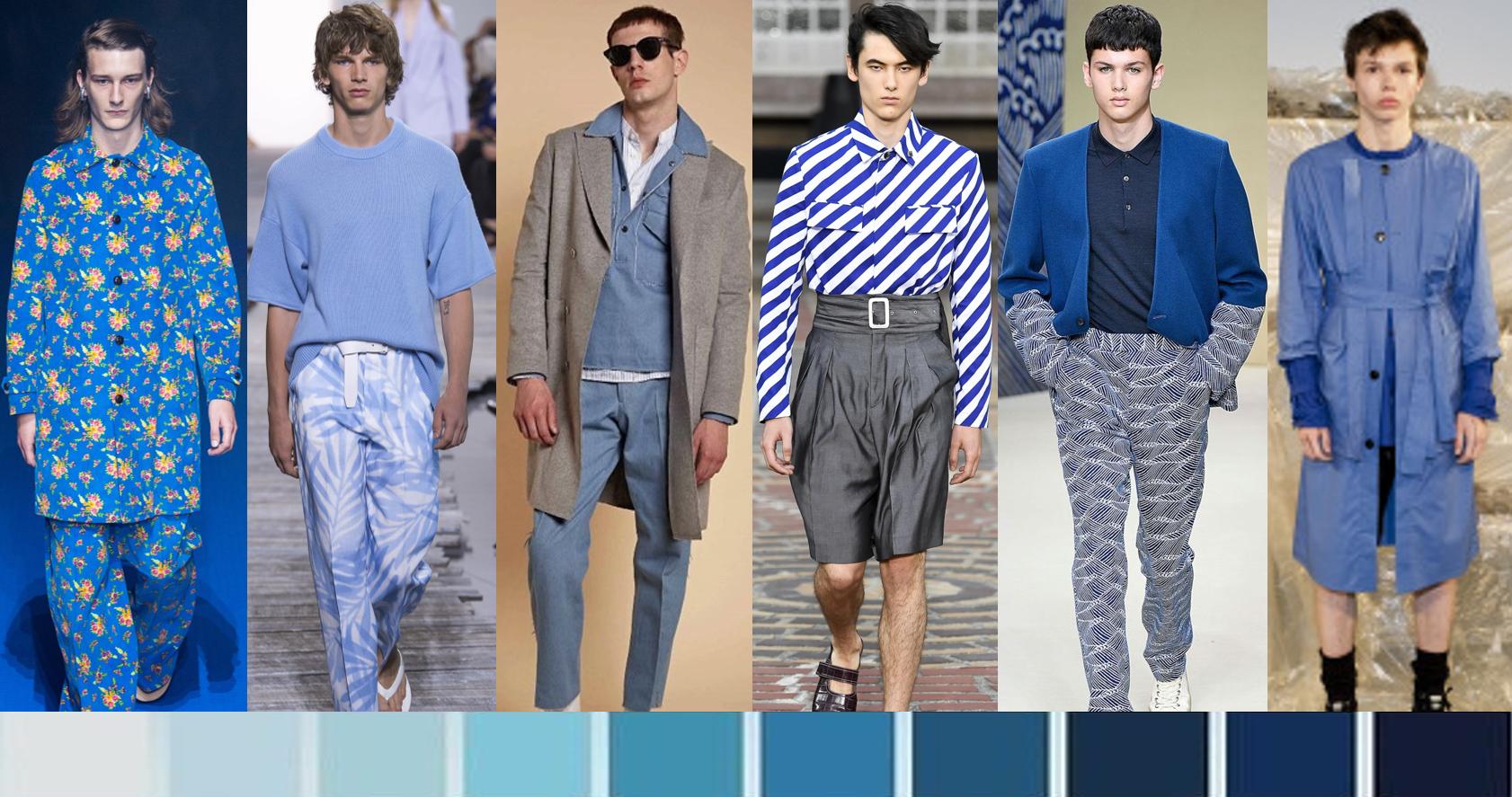 Blue colour fashion trend