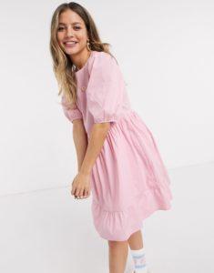 smocked mini dress image