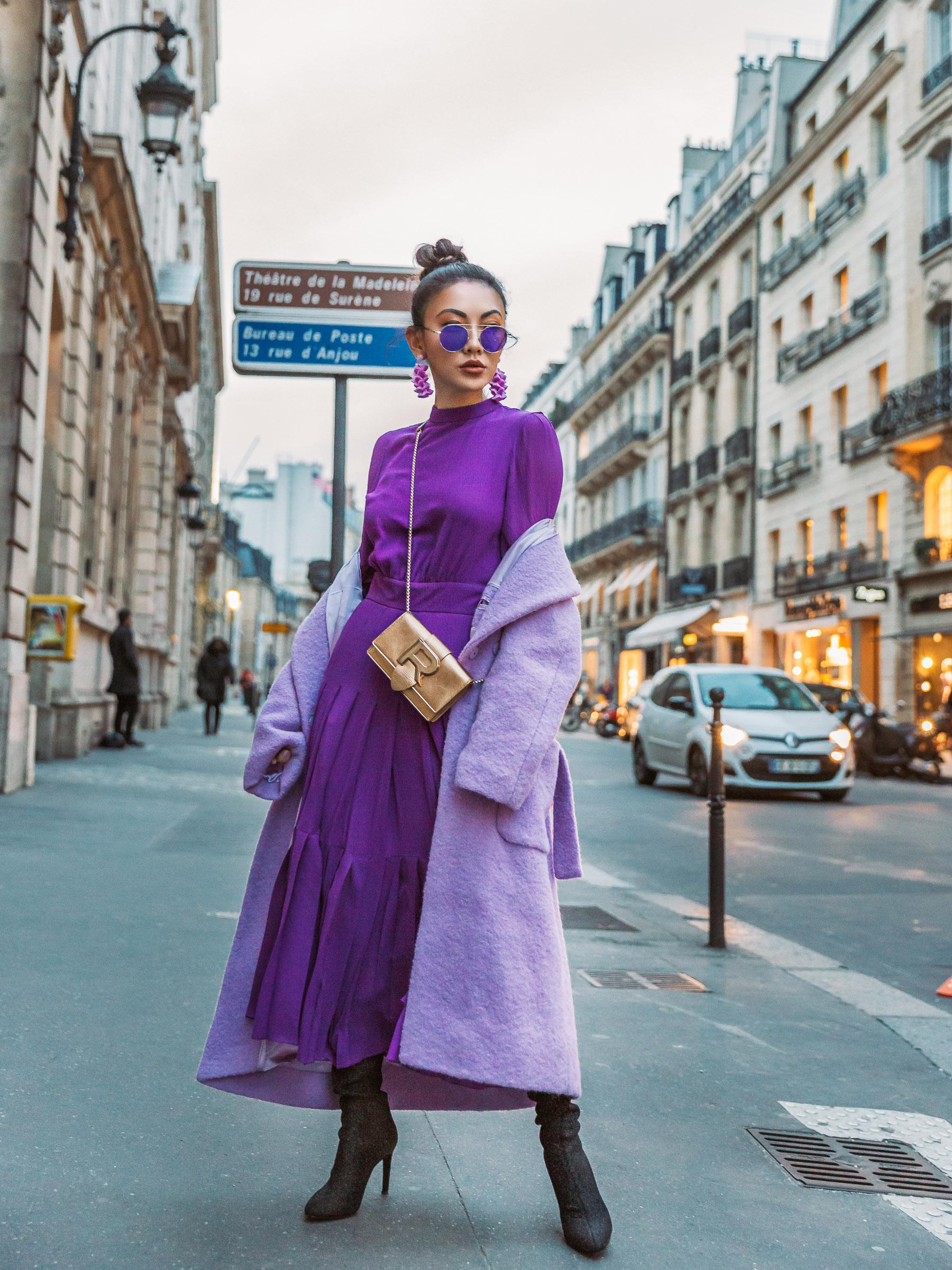 Winter Dark Purple fashion