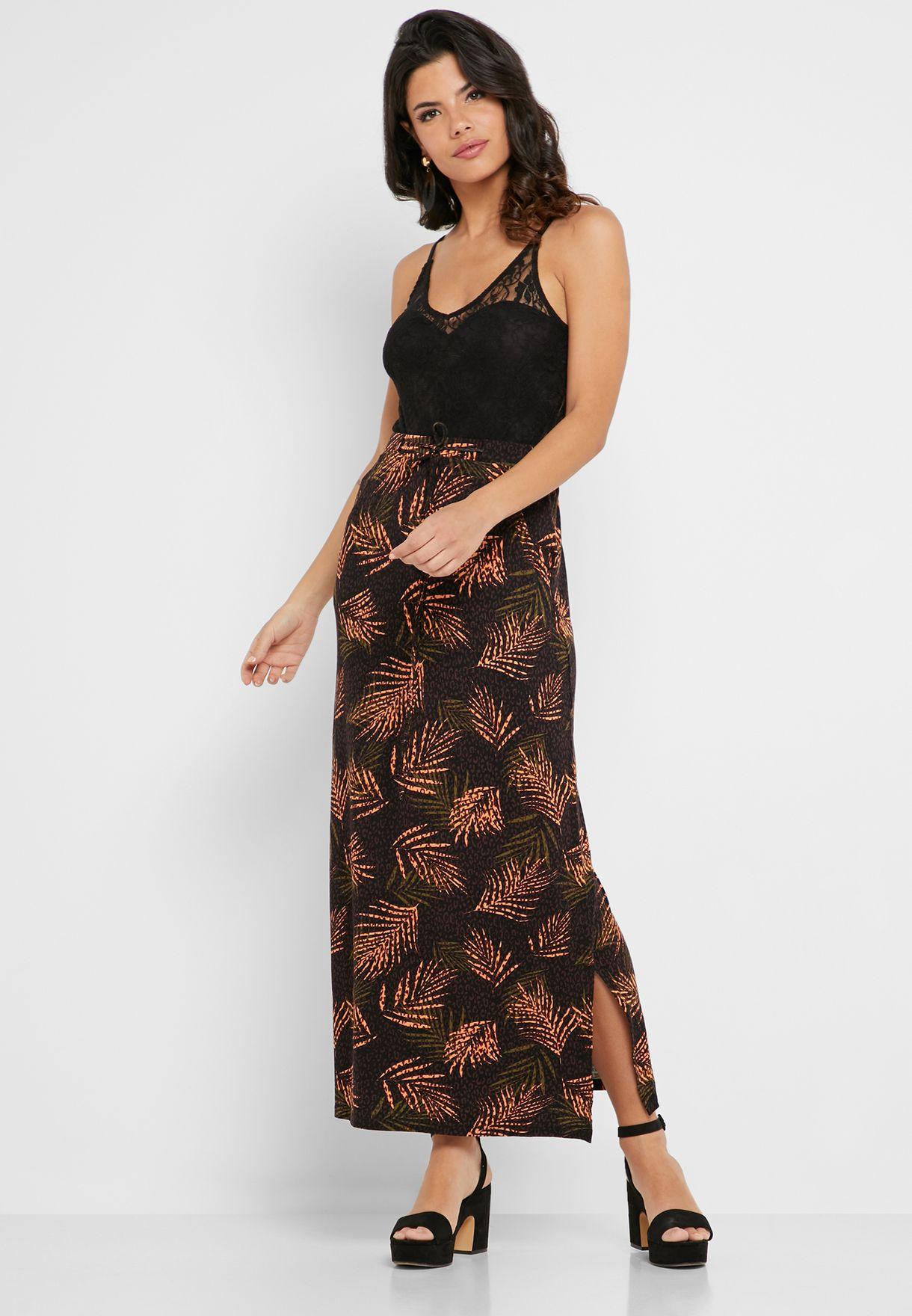 Maxi Tube Skirt printed