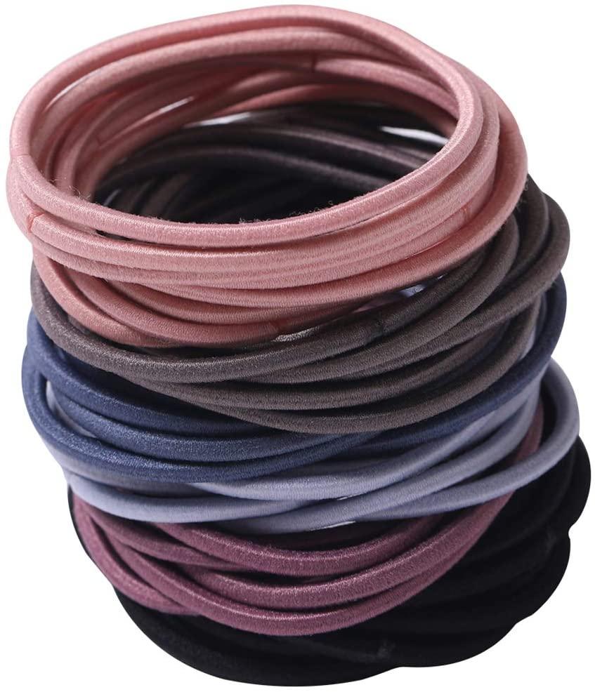 100 Pieces Elastic Hair Ties,Multicolor Hair Elastic Bands Ponytail Holders