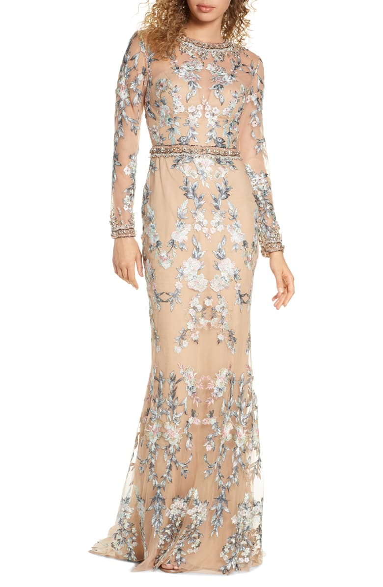 Long sleeve gown