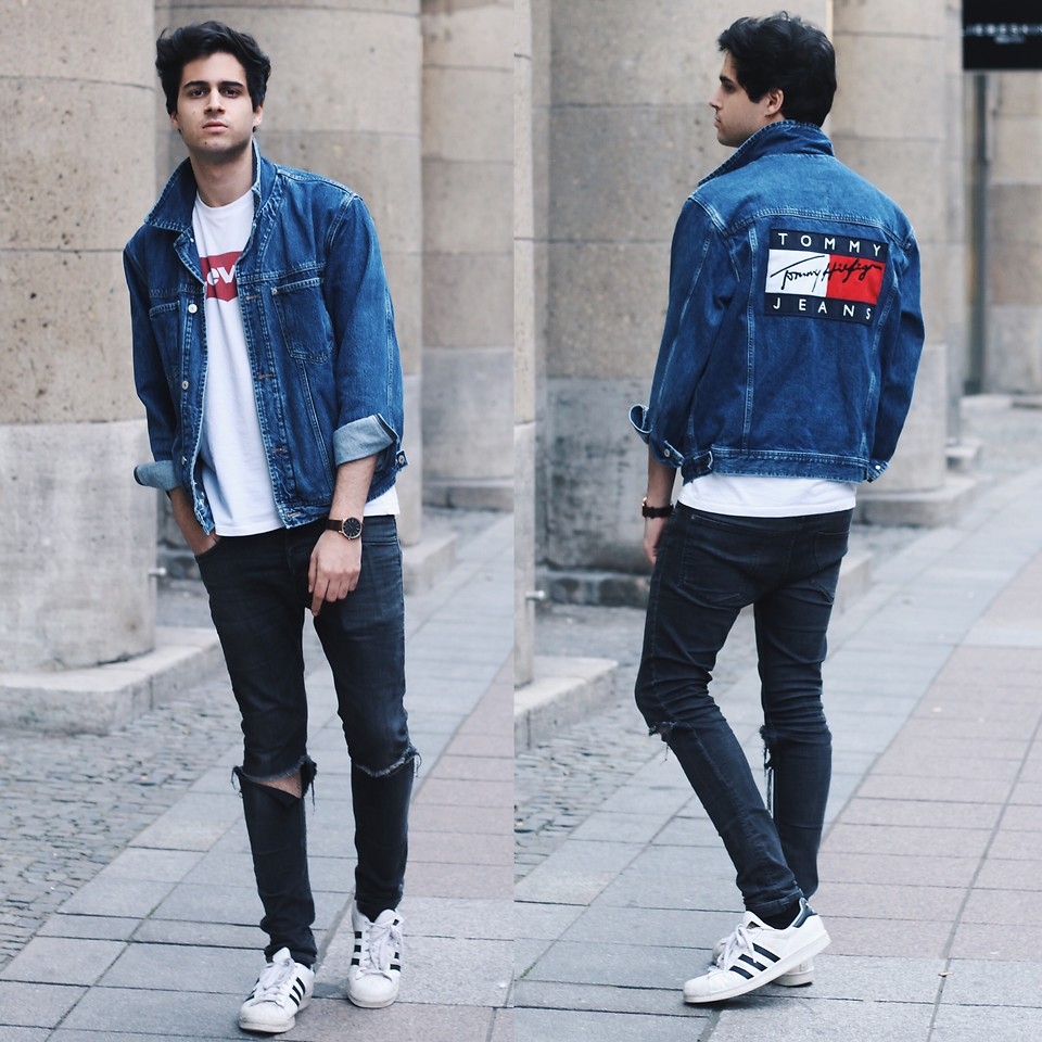Tommy Jeans T-shirt style denim jacket