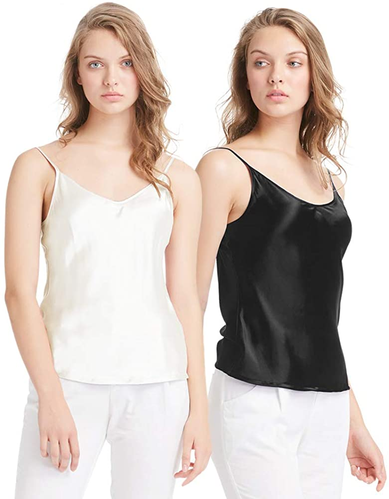 LilySilk Womens Silk Camisole 100 Pure Mulberry Silk Tank Tops & Ladies Cami Top with Soft Satin