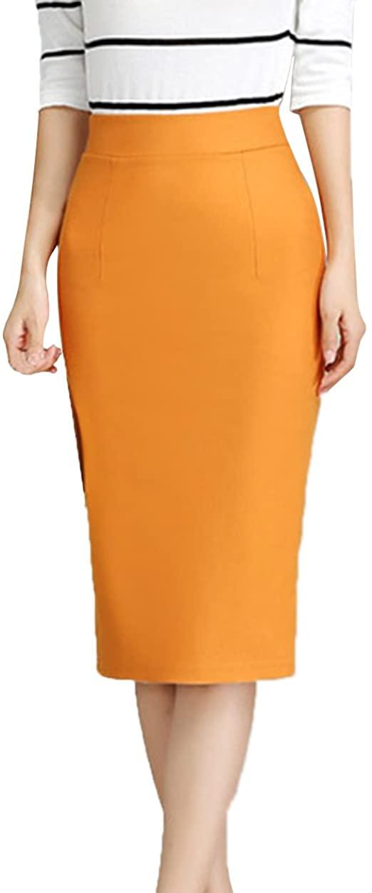 Plain Work Tube Bodycon Skirt