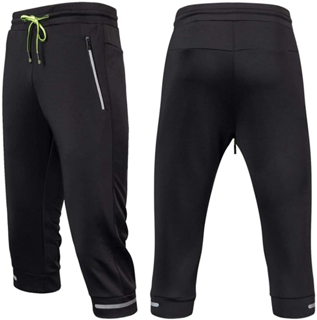 Men Jogging Pants Soccer Training Running Sports Fitness Football Cropped 3/4 Pant Bodybuilding Sweatpants Leggings Clothes