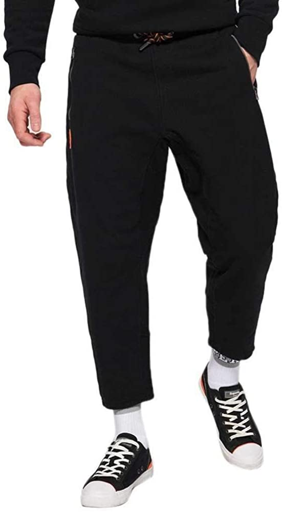 Superdry Cropped Loopback Jogger Man Pants Black