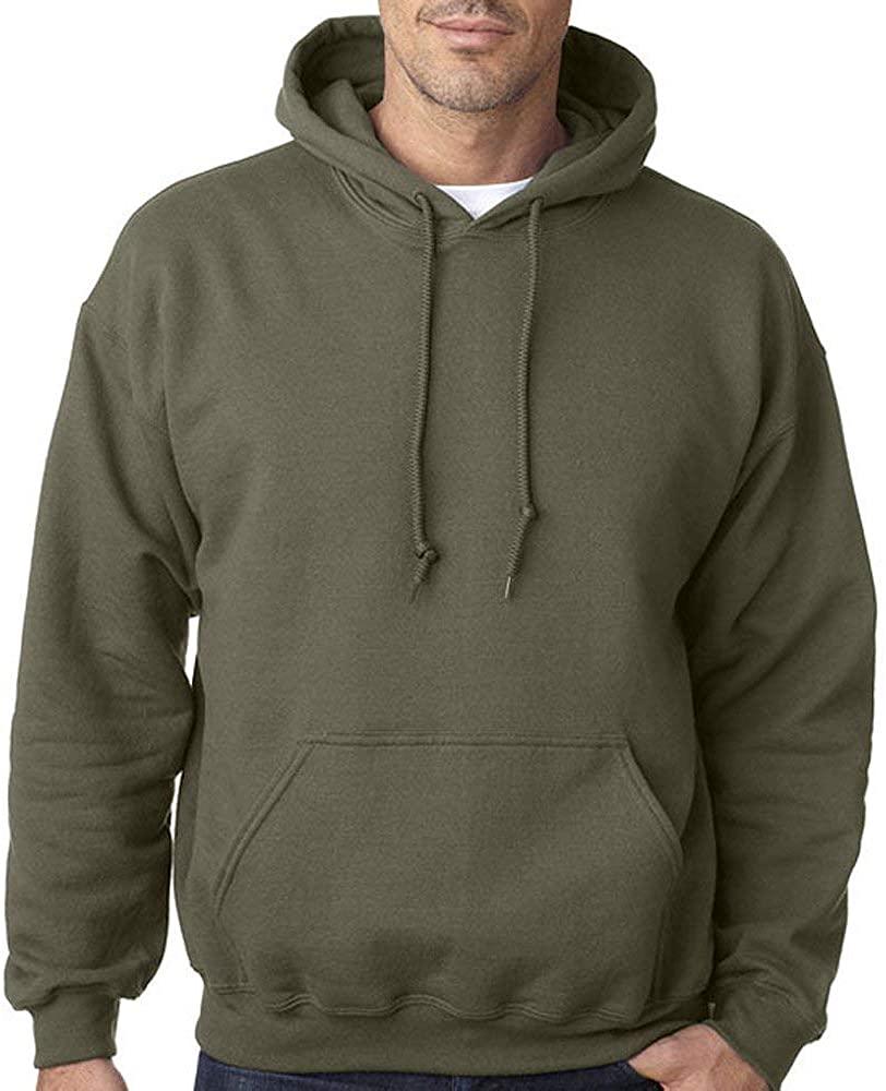 Star and Stripes Plain Military Green Army Colour Hooded Sweatshirts, Army Military Green Hooded Sweatshirt