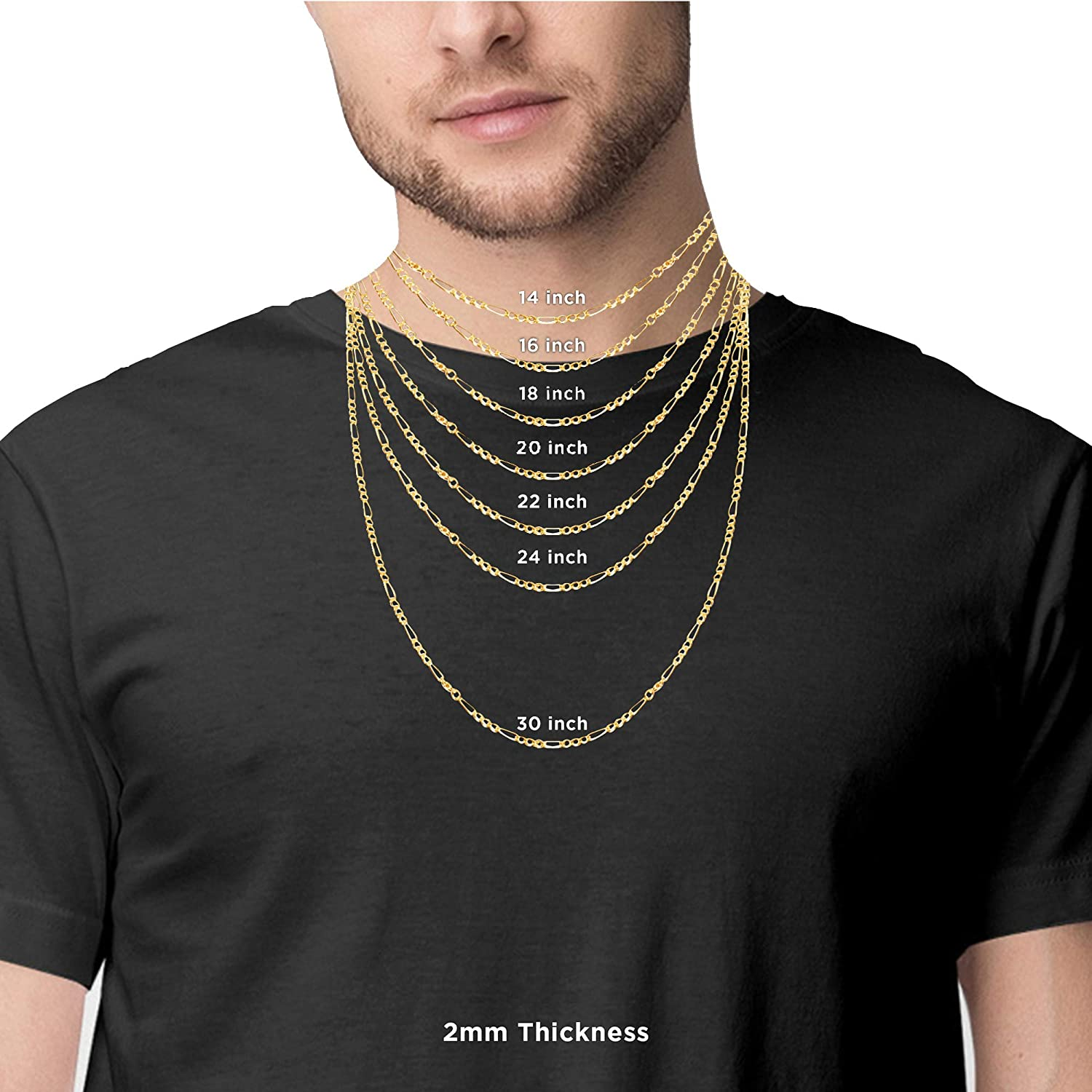 Mens Figaro Chain Necklaces
