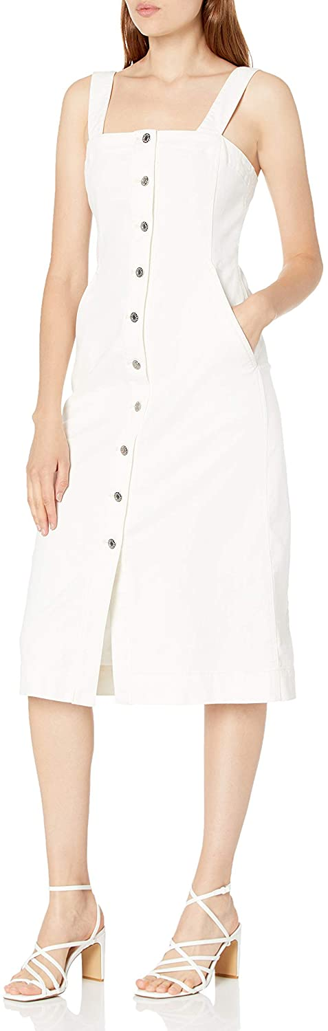 Club Monaco Women's Denim Button Front Dress Casual