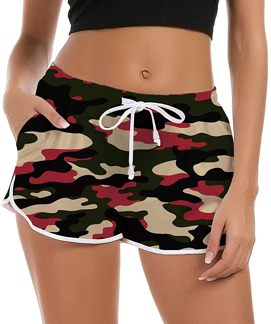 NEWISTAR Women's Swim Shorts 3D Graphic Ugly Boardshorts Quick Dry Boyleg Swimwear Bottoms Funky Gym Workout Casual Sport Joggers