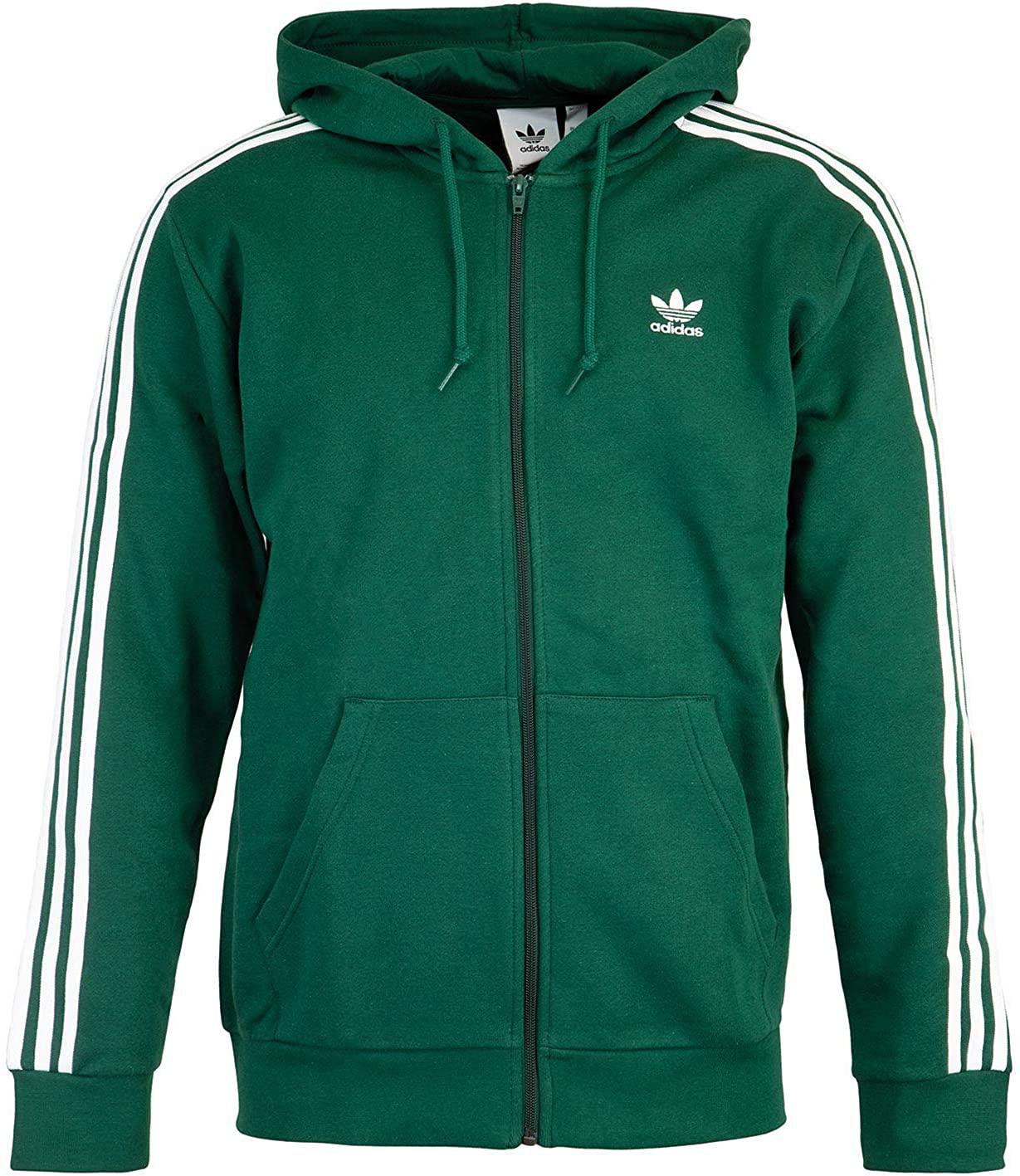 adidas 3 stripes full zip hoodie