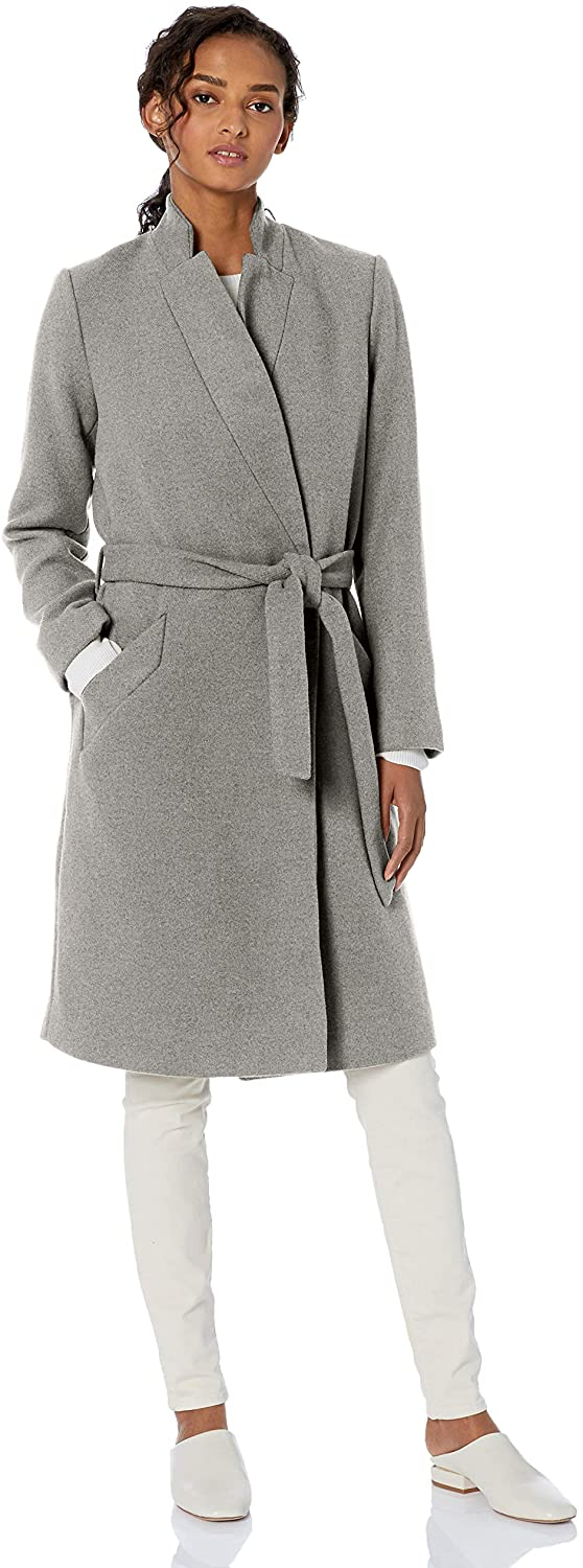 Daily Ritual Women's Wool Belted Coat