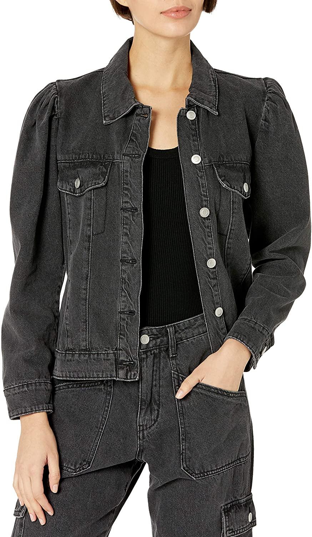KENDALL + KYLIE Women's Puff Sleeve Denim Jacket