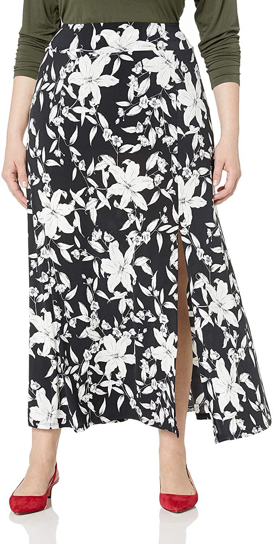 Women's Plus Size slit Maxi Skirt