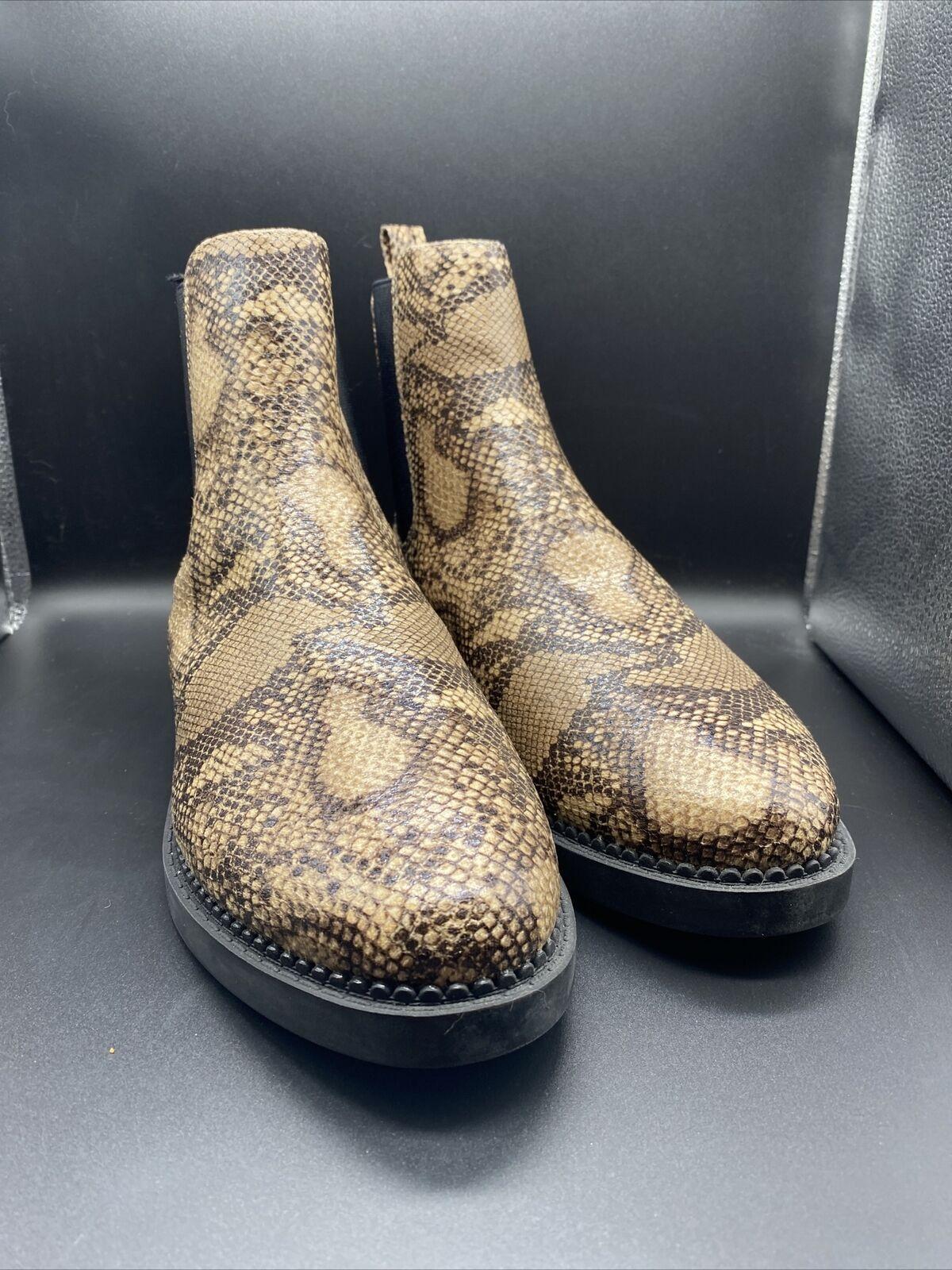 ASOS Park Lane Snake Skin Chelsea Boot
