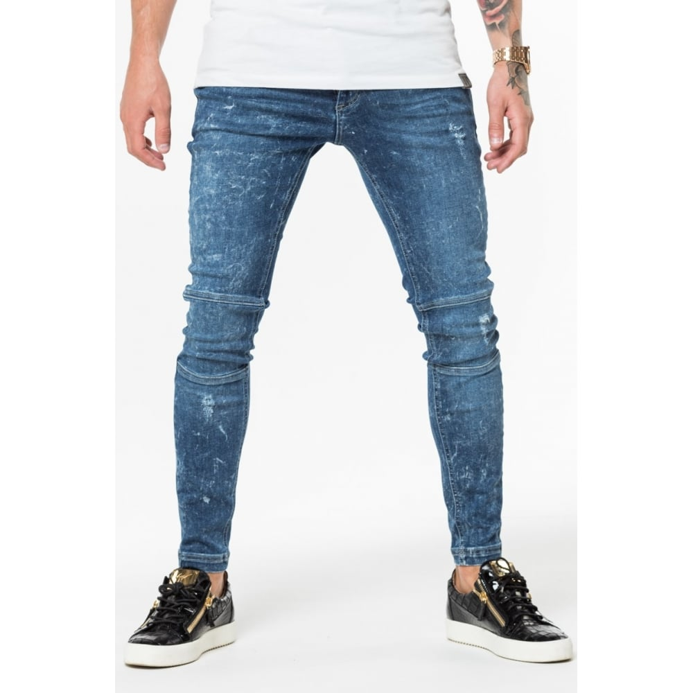 Acid Wash Jeans - Indigo