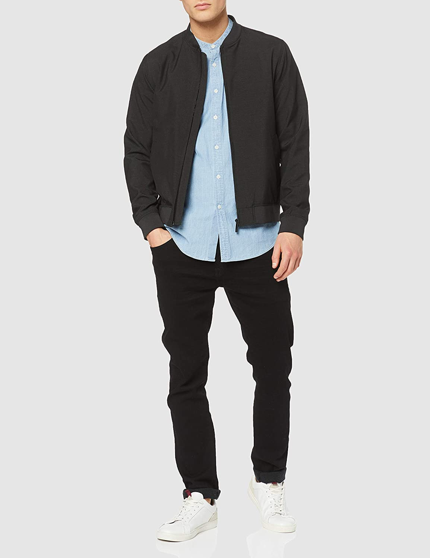Men's Short Sleeve Chambray Grandad Shirts