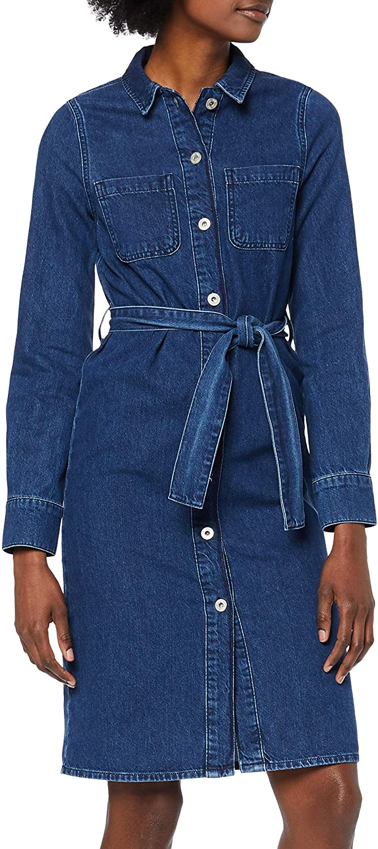 Amazon Brand - find. Women's Midi Denim Shirt Dress