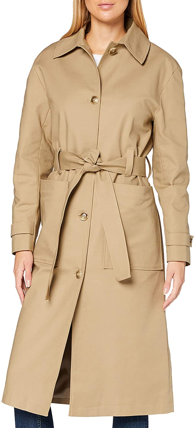 Amazon Brand - find. Women's Trench Belted Coat