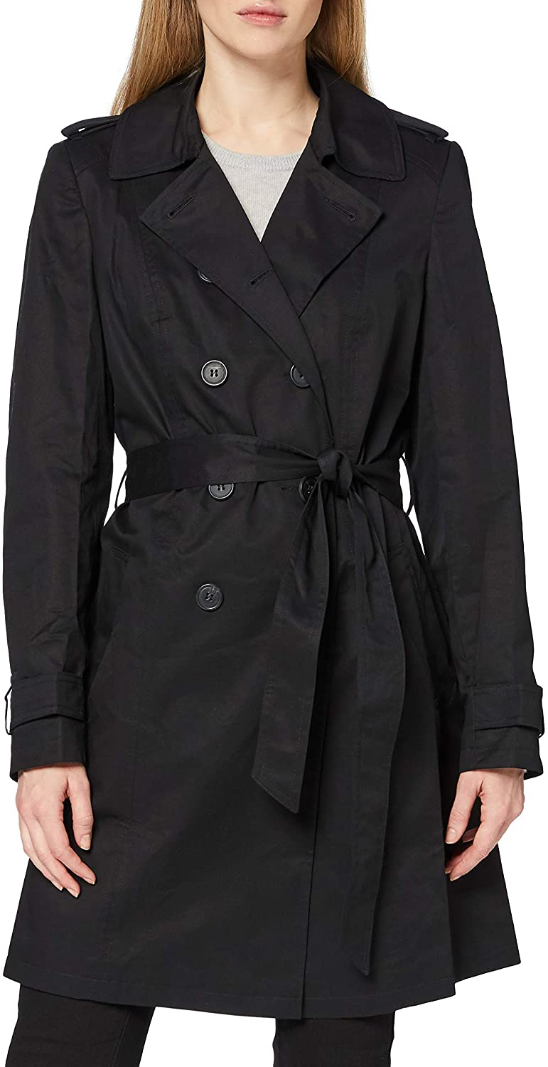 Amazon Brand - find. Women's Trench Coat with Shoulder Epaulets and Belt