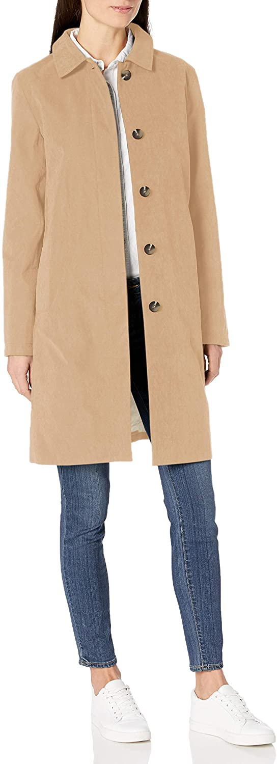 Amazon Essentials Women's Water-Resistant Collar Coat