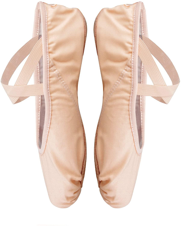 Ballet Dance Shoes Split Sole Flat Gymnastics Dancing Slippers